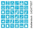network and social media icons, vector - stock vector