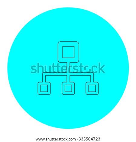 black hat network diagram icon network server diagram icon share icon vector illustration concept stock vector ...