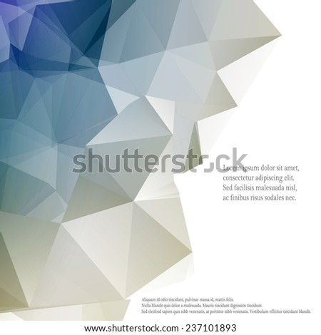 new background for infographics, polygonal texture