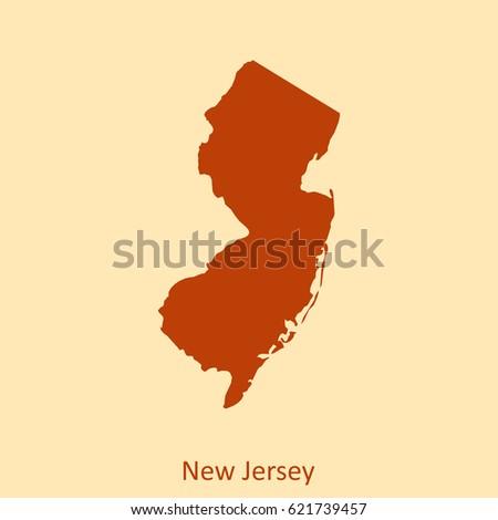 New Jersey Map Stock Vector Shutterstock - Newjerseymap