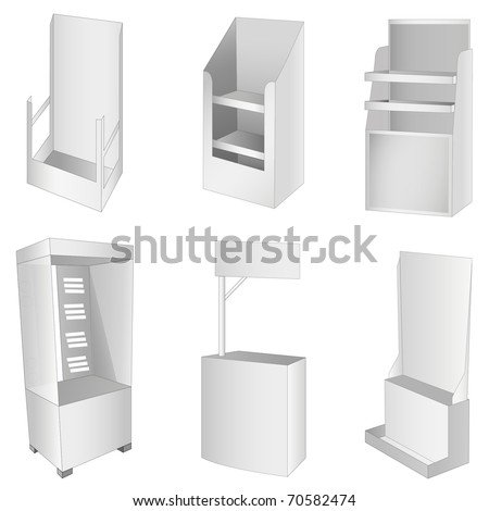 New 6 white display. Vector illustration