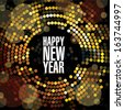 New year and Christmas light garland vector card template. - stock photo
