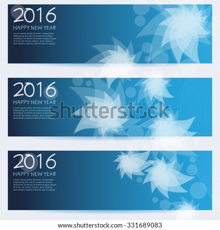 New Year Banner Set  vector design