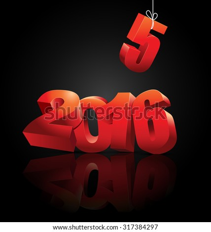 New 2016 year is coming, vector illustration