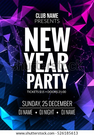 New Year Party Design Banner Event Stock Vector 524732479 ...