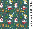 New Year's background, Christmas seamless wallpaper pattern - stock vector