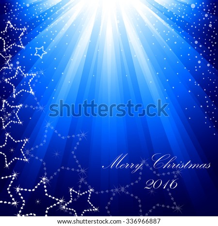 New Year's card with night beams
