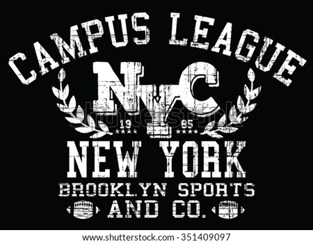 Vector graphics typography tshirt design apparel stock for T shirt printing brooklyn