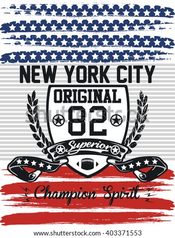 Vintage americana eagle graphic stock vector 218142991 for T shirt printing nyc same day