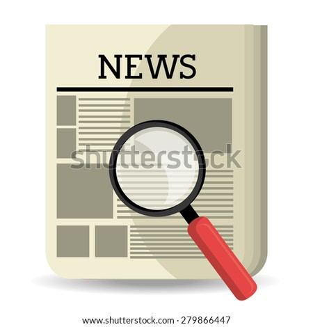 News design over white background, vector illustration.