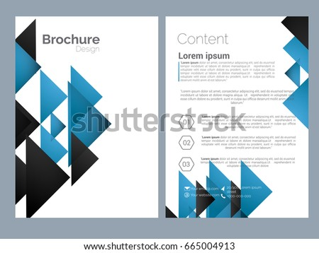 nice brochure templates - abstract background geometric shapes frames presentation