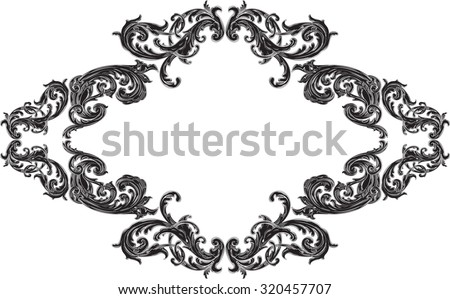 Nice frame with acanthus pattern on white