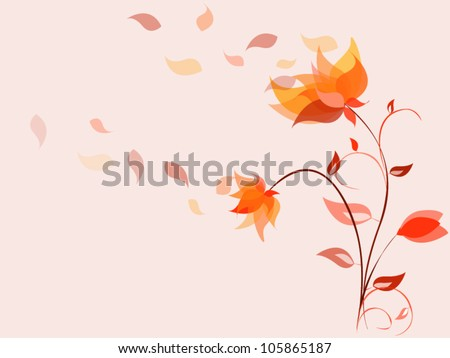 Nice summer vector flowers