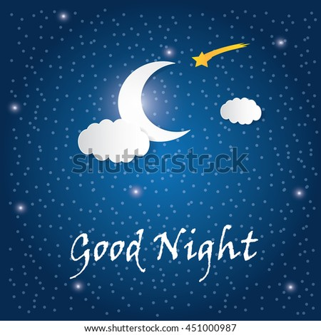 good night letter letter stock vector 177791636 21975