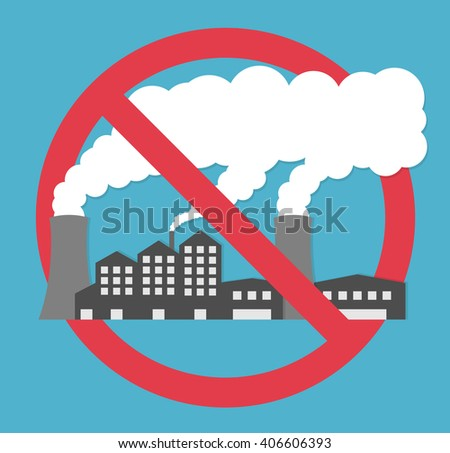 factory power plant emitting smoke smoking stock vector 323497100 shutterstock. Black Bedroom Furniture Sets. Home Design Ideas