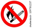 No fire vector sign - stock
