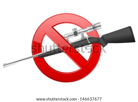 No weapon sign on a white background.