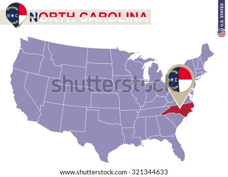 Michigan State On Usa Map Michigan Stock Vector - North carolina on the us map