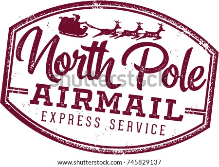 north pole air mail christmas santa stock vector 208049341 north pole clip art newspaper north pole clipart images