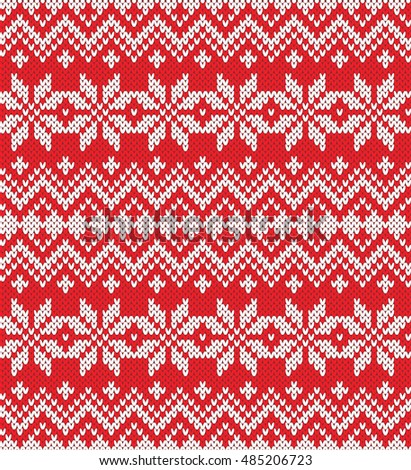 Winter Holiday Seamless Knitted Pattern Fair Stock Vector ...