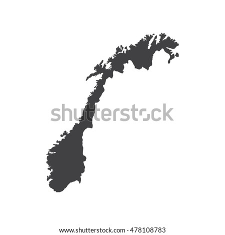 Oslo On Norway Map Stock Illustration Shutterstock - Norway map cartoon