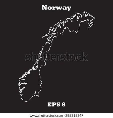 Map Norway Stock Vector Shutterstock - Norway map eps