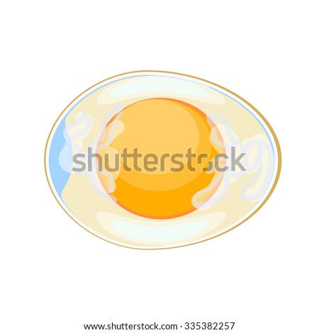 Not a boiled egg in a sectional illustration