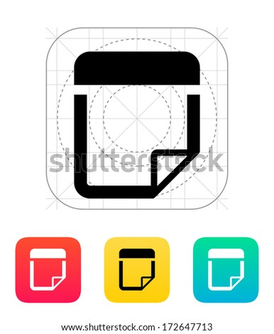Note icon. Vector illustration.