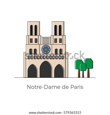 Notre Dame Building Graphic Design