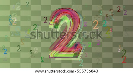 Number 2 background pattern