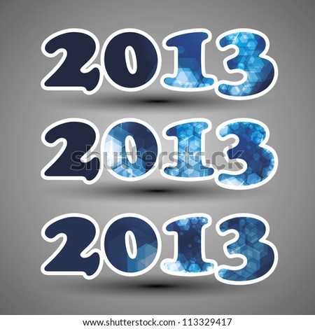 Number Design Templates for New Year