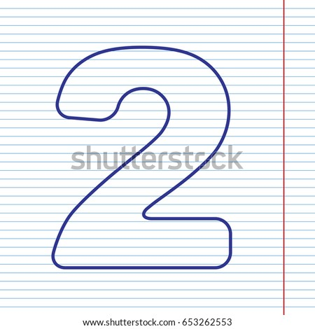 Number 7 sign design template element stock vector 653262610 number 2 sign design template elements vector navy line icon on notebook paper as pronofoot35fo Image collections