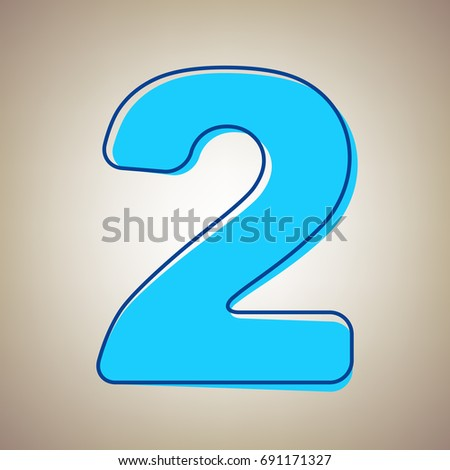 Number 2 sign design template elements stock vector 604283819 number 2 sign design template elements vector sky blue icon with defected blue contour pronofoot35fo Gallery