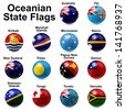 Oceania State Flags - stock photo