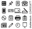 Office Icon Set - stock vector