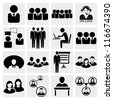 Office people icons set. - stock vector
