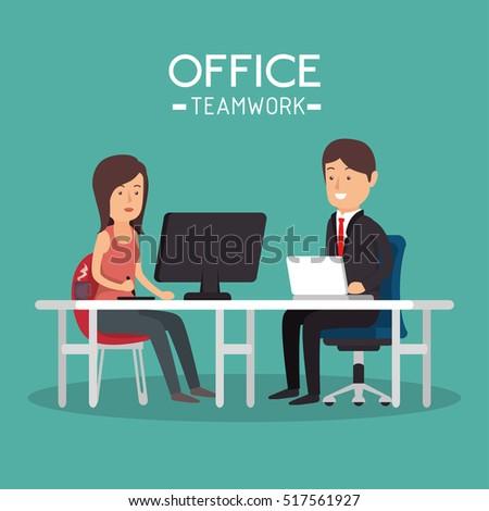 Vector Concept Job Interview Women Flat Stock Vector ...