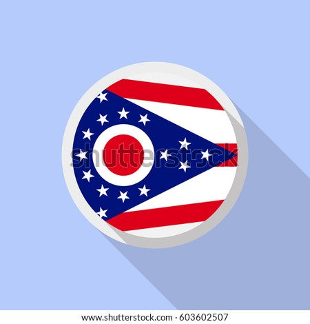 ohio flag stock vector 217910608 - shutterstock
