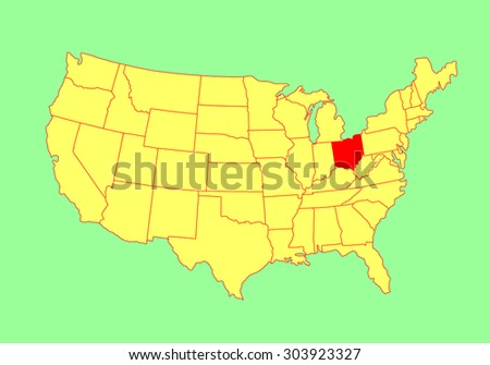 Connecticut State Usa Vector Map Isolated Stock Vector - Us map editable