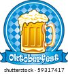 Oktoberfest beer label, detailed vector illustration - stock vector