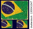 Old grunge flag of Brazil state, retro series. Vector set. - stock photo