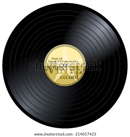 New gramophone vinyl lp record yellow stock vector for Classic house record labels