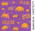 Old school game pattern seamless vector - stock