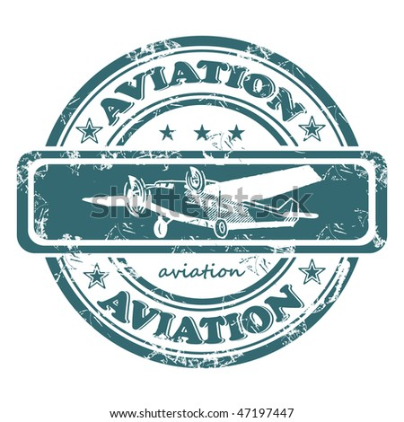 Old stamp, seal with the inscription aviation.
