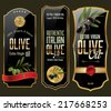 Olive gold and black banner collection - stock