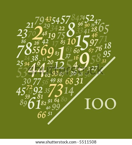 one hundred numbers over one hundred