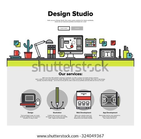 computer service computer store flat illustration stock vector 295765025 shutterstock. Black Bedroom Furniture Sets. Home Design Ideas