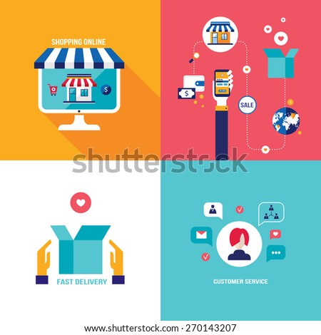 Online shopping ecommerce mobile payment successful stock for E commerce mobili