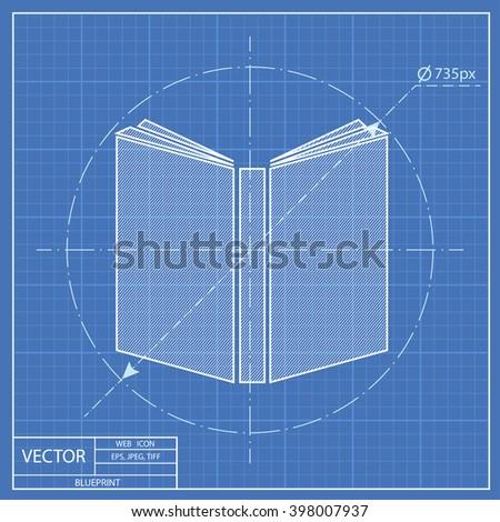 Blueprint icon engine piston cylinder vectores en stock 411501103 open book blueprint icon malvernweather Image collections