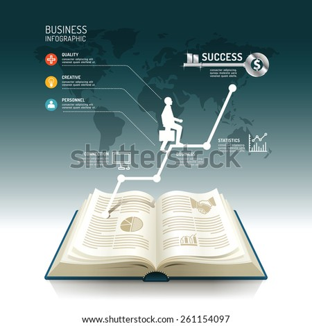Open Book Infographic Innovation Idea On Stock Vector